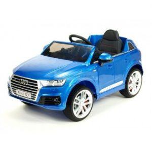 voiture électrique Audi Q7 S-Line Bleu Sepang métallisé pour enfant